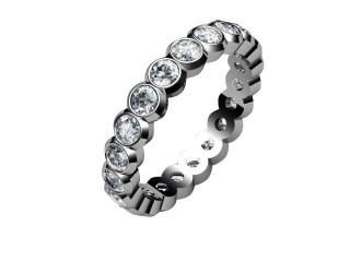 Full Diamond Eternity Ring 1.75cts. in 9ct. White Gold-88-46055