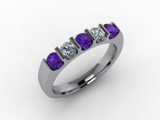 Amethyst and Diamond 0.54cts. in 18ct. White Gold