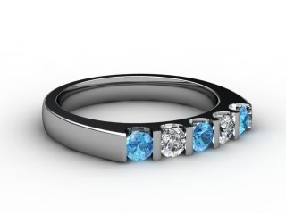 Blue Topaz and Diamond 0.63cts. in 18ct. White Gold-88-05056-113