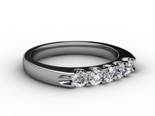 Half-Set Diamond Eternity Ring 0.65cts. in 9ct. White Gold-88-46058