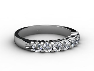 Half-Set Diamond Eternity Ring 0.65cts. in 9ct. White Gold-88-46059