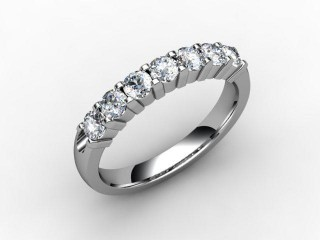 Half-Set Diamond Eternity Ring 0.65cts. in 18ct. White Gold