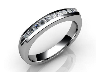 Half-Set Diamond Eternity Ring 0.20cts. in 18ct. White Gold