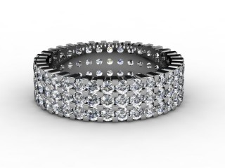 Full Diamond Eternity Ring 1.87cts. in 18ct. White Gold