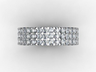 Full Diamond Eternity Ring 1.87cts. in 18ct. White Gold - 9
