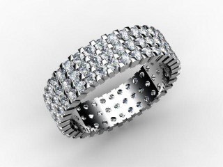 Full Diamond Eternity Ring 1.87cts. in 18ct. White Gold - 15