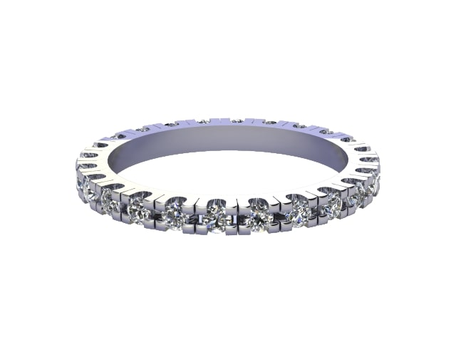 Full Diamond Eternity Ring 0.82cts. in 18ct. White Gold