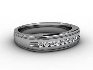 Half-Set Diamond Wedding Ring 0.9cts. in 9ct. White Gold-W88-46064