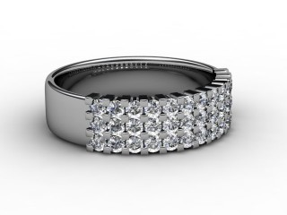 Half-Set Diamond Eternity Ring 0.72cts. in 9ct. White Gold-88-46067
