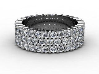 Full Diamond Eternity Ring 2.70cts. in 18ct. White Gold