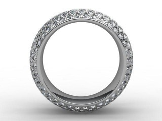 Full Diamond Eternity Ring 2.16cts. in 9ct. White Gold