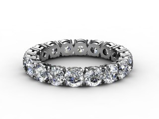 Full Diamond Eternity Ring 2.63cts. in 18ct. White Gold