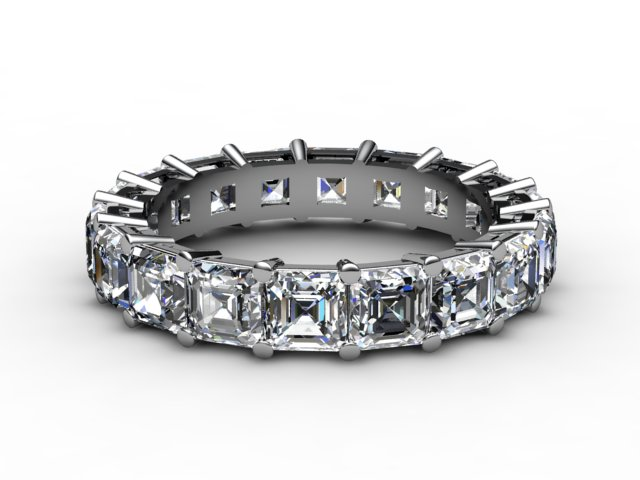 Full Diamond Eternity Ring 4.44cts. in 18ct. White Gold