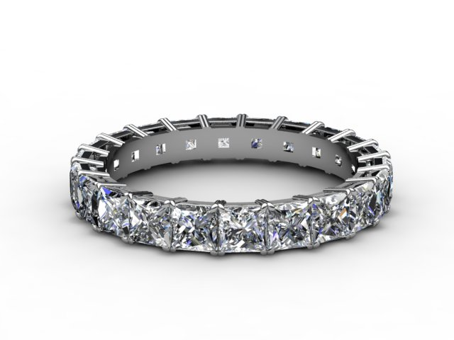 Full Diamond Eternity Ring 3.75cts. in 18ct. White Gold
