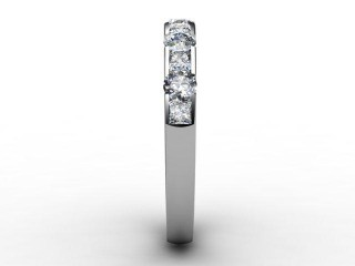 Half-Set Diamond Eternity Ring 0.78cts. in 18ct. White Gold