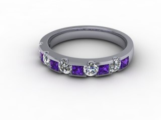 Amethyst and Diamond 0.68cts. in 18ct. White Gold-88-05081-112