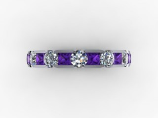 Amethyst and Diamond 0.68cts. in 18ct. White Gold