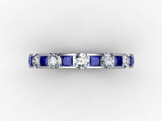 Blue Sapphire and Diamond 0.84cts. in 18ct. White Gold