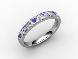 Tanzanite and Diamond 0.76cts. in 18ct. White Gold