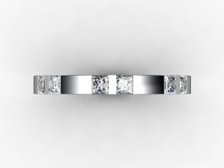 Half-Set Diamond Eternity Ring 1.35cts. in 18ct. White Gold