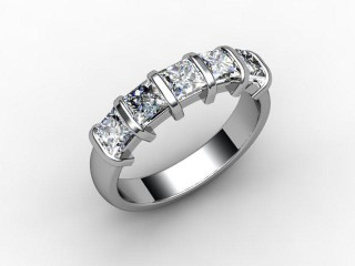 Half-Set Diamond Eternity Ring 1.28cts. in 18ct. White Gold