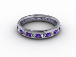 Amethyst and Diamond 0.75cts. in 18ct. White Gold-88-05099-112