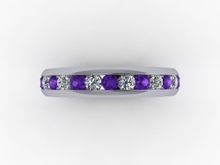 Amethyst and Diamond 0.75cts. in 18ct. White Gold