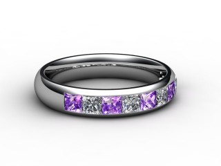 Amethyst and Diamond 1.12cts. in 18ct. White Gold-88-05100-112