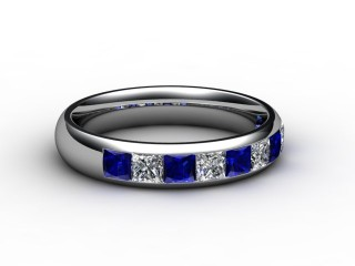 Blue Sapphire and Diamond 1.40cts. in 18ct. White Gold-88-05100-147
