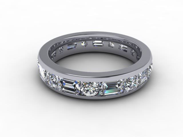 Full Diamond Eternity Ring 3.43cts. in 18ct. White Gold