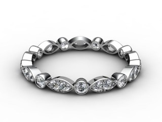 Full Diamond Eternity Ring 0.56cts. in 18ct. White Gold