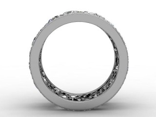 Full Diamond Eternity Ring 3.25cts. in 18ct. White Gold