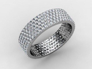 Full Diamond Eternity Ring 1.25cts. in 18ct. White Gold