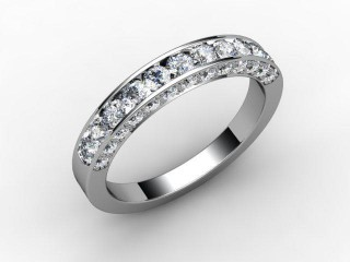 Half-Set Diamond Eternity Ring 0.75cts. in 18ct. White Gold