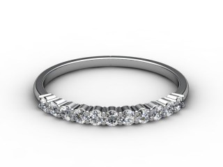 Half-Set Diamond Eternity Ring 0.22cts. in 18ct. White Gold