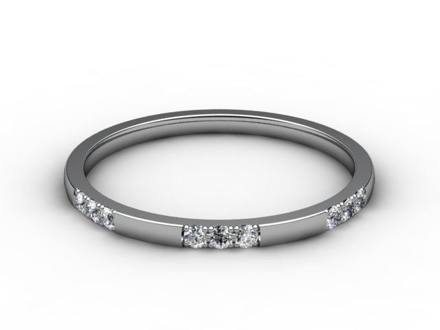 Half-Set Diamond Eternity Ring 0.18cts. in 18ct. White Gold