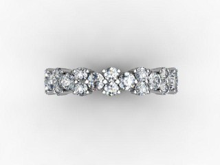 Full Diamond Eternity Ring 1.66cts. in 18ct. White Gold