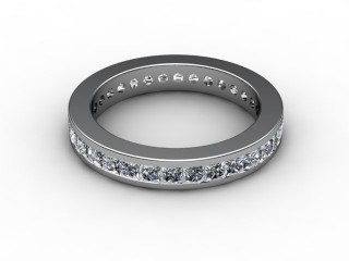 Full Diamond Eternity Ring 1.90cts. in 18ct. White Gold