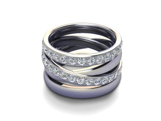 Full Diamond Eternity Ring 1.75cts. in 9ct. White Gold-88-46123