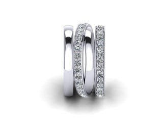 Full Diamond Eternity Ring 1.75cts. in 18ct. White Gold