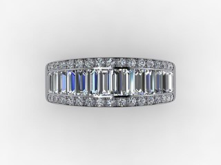 Half-Set Diamond Eternity Ring 0.82cts. in 18ct. White Gold