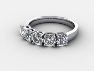 Half-Set Diamond Eternity Ring 1.20cts. in 9ct. White Gold-88-46132