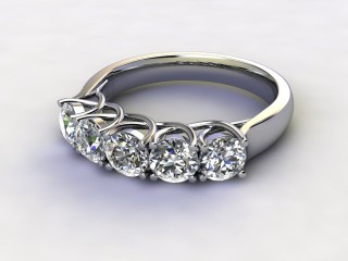 Half-Set Diamond Eternity Ring 1.20cts. in 9ct. White Gold-88-46133