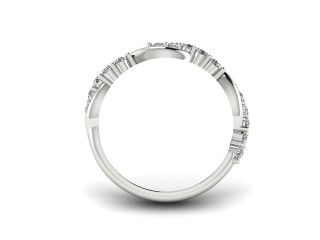 Half-Set Diamond Eternity Ring 0.33cts. in 18ct. White Gold