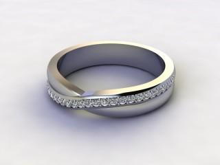 Half-Set Diamond Wedding Ring 0.20cts. in 9ct. White Gold-W88-462505