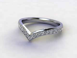 Half-Set Diamond Eternity Ring 0.38cts. in 9ct. White Gold-88-462506
