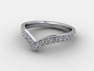 Half-Set Diamond Eternity Ring 0.38cts. in 9ct. White Gold-88-462508