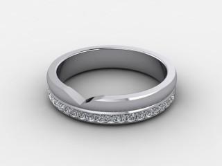 Half-Set Diamond Wedding Ring 0.23cts. in 9ct. White Gold-W88-462509