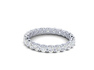 Full Diamond Eternity Ring 1.81cts. in 9ct. White Gold-88-46511