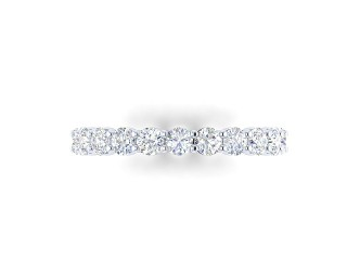 Full Diamond Eternity Ring 1.81cts. in 18ct. White Gold